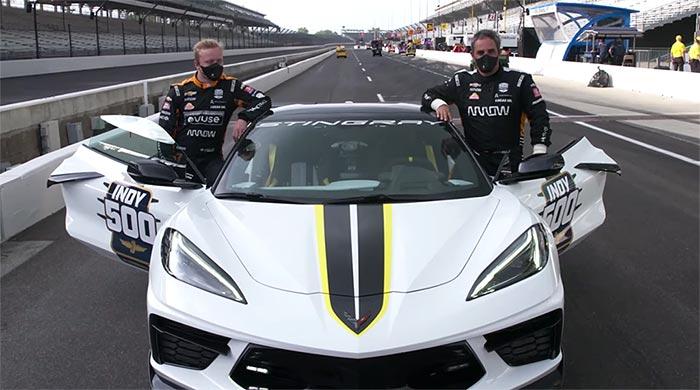 [VIDEO] Juan Pablo Montoya Takes a Lap In the 2021 Corvette Stingray Indy 500 Pace Car