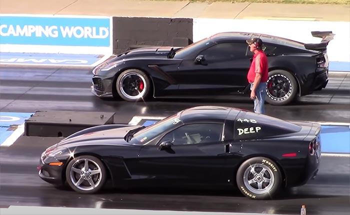 [VIDEO] C6 Corvette Sleeper Takes on Hellcat, ZR1 at the Drag Strip