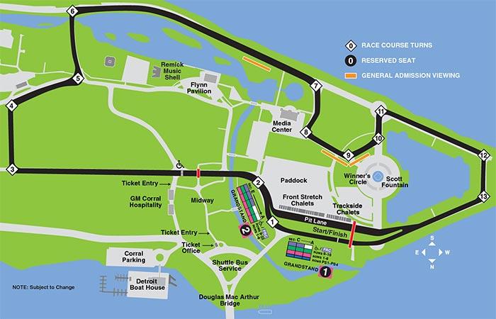 Detroit Grand Prix Track Map