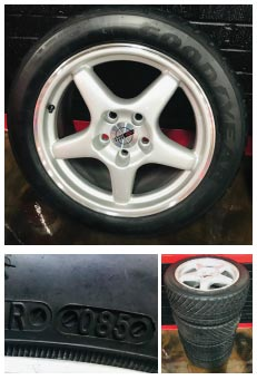 1995 Indianapolis 500 Pace Car Wheels and Tires Set