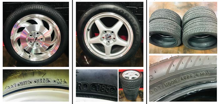 Pace Car Collector Offering Original Date Coded Wheels and Tires For Sale