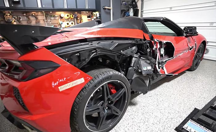 [VIDEO] Watch this Salvage 2020 Corvette Brought Back to Life by a Driveway Mechanic