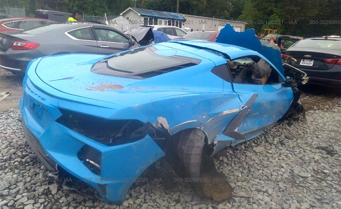 This Heavily Damaged 2021 Corvette Is Ready For You To Make An Offer On It