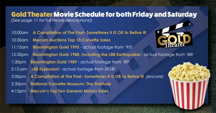 GoldTheater Schedule