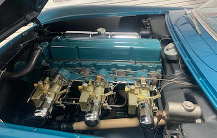 Corvettes for Sale: No-Reserve 1954 Pennant Blue Corvette Roadster Offered at Auction