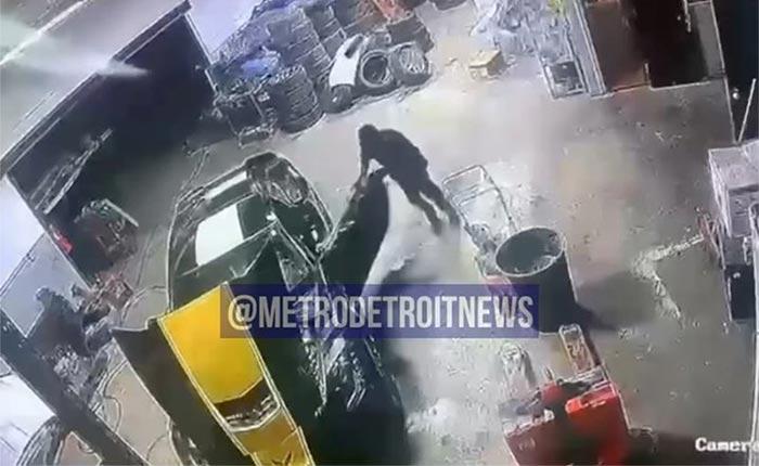 Brazen Car Thieves Steal a C7 Corvette Z06 from a Detroit Dealership