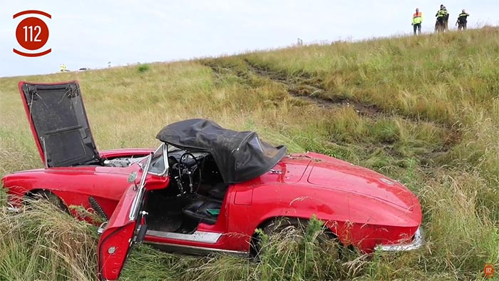 [ACCIDENT] Aftermath of a 1962 Corvette Roll-Over Crash in Europe
