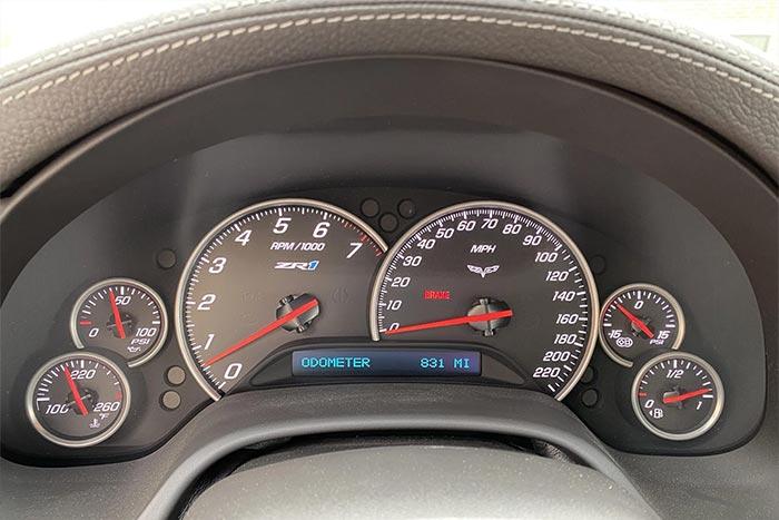 Corvettes for Sale: Jeff Gordon's Cyber Gray Corvette ZR1 with 835 Miles