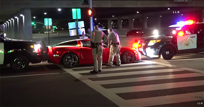 [VIDEO] CHP Busts the Window on a C6 Corvette to Arrest Impaired Driver