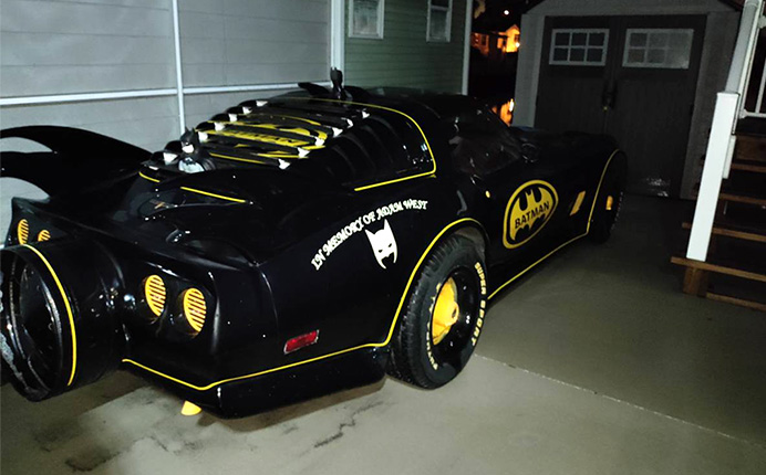 Holy Rolling Fan Art Batman! There's A Bat-Themed C3 Corvette For Sale in Florida
