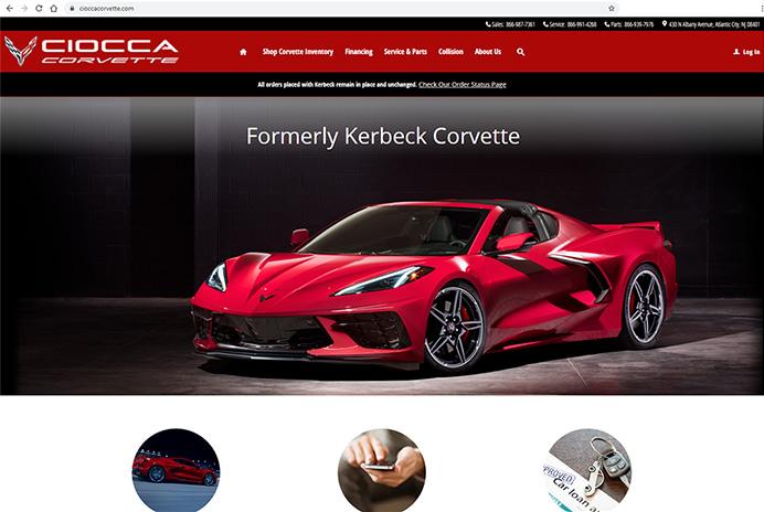 Ciocca Corvette Launches New Website to Replace Kerbeck.com