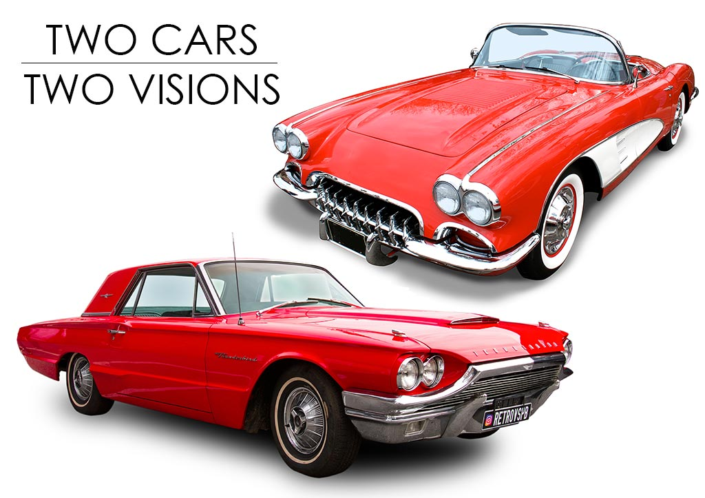 Two Cars. Two Visions.