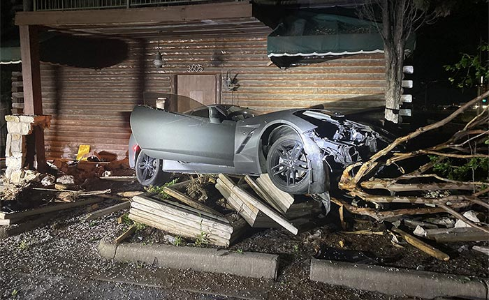 [ACCIDENT] Man Holding Thousands of Dollars in Cash Crashes C8 Corvette Into Avandoned Building