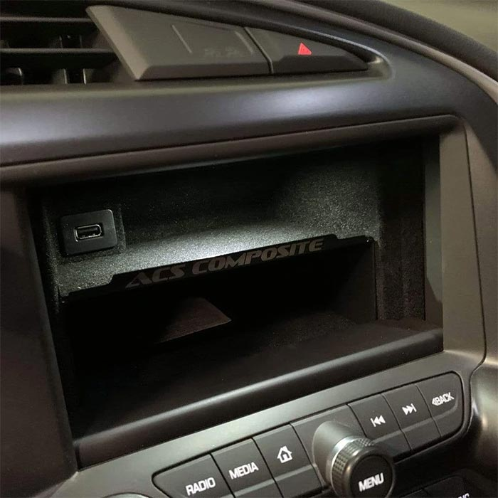 C7 Corvette Hidden Dash Compartment Shelf