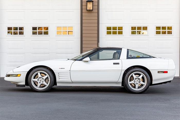 Corvettes for Sale: Arctic White 1994 Corvette ZR-1 on Bring A Trailer
