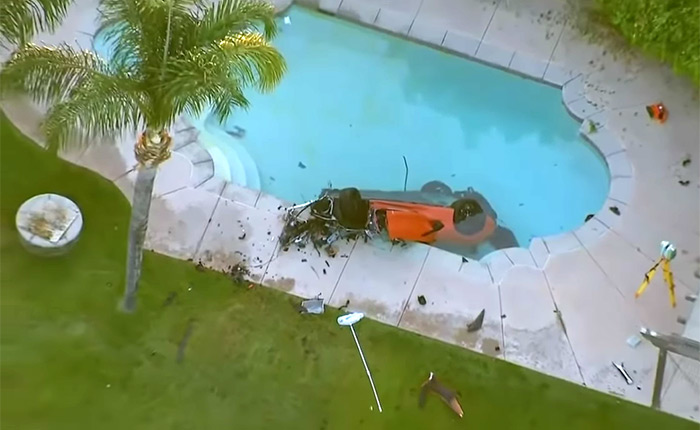 [ACCIDENT] Police Investigating the Deadly Crash of a C8 Corvette Convertible in California