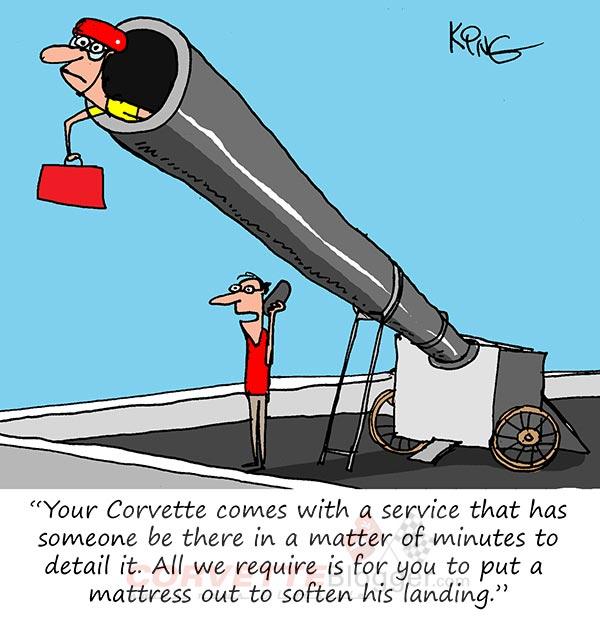 Saturday Morning Corvette Comic: Rapid Response Detailing Service