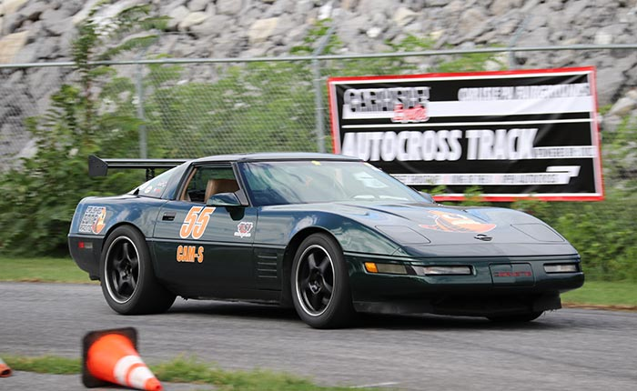 Corvette on the Autocross course