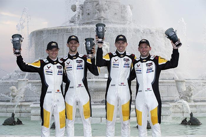 Corvette Racing Drivers Celebrate 1-2 Finish at Belle Isle
