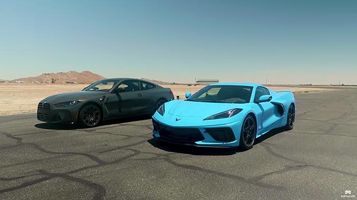 [VIDEO] Edmunds Runs the C8 Corvette Against the BMW M4 Competition