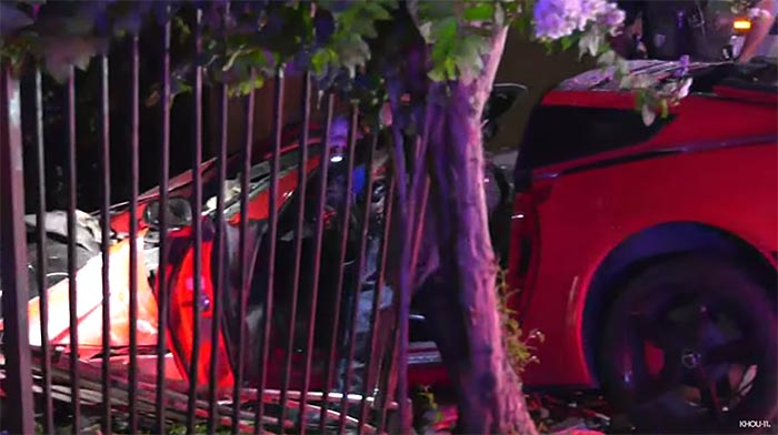 [ACCIDENT] High Speed Chase of a C7 Corvette Ends with a Crash in Houston