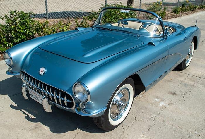 1956 Arctic Blue Corvette Convertible