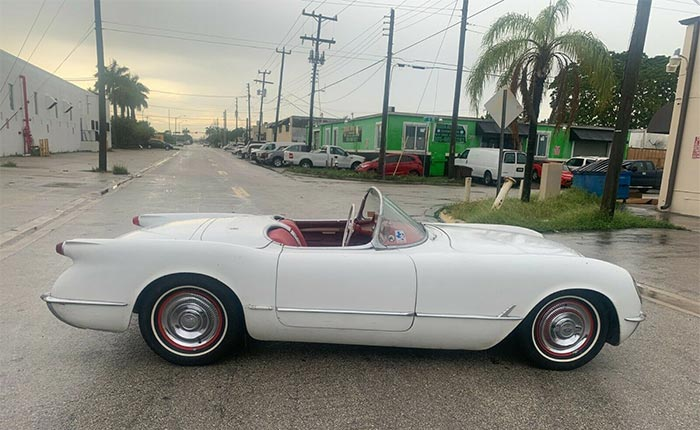 Corvettes for Sale: 1954 Corvette Has Been 'In the Family' Since New