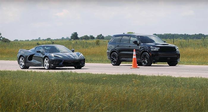 [VIDEO] Hennessey Races at Stock C8 Corvette Vs Tuned Dodge Durango