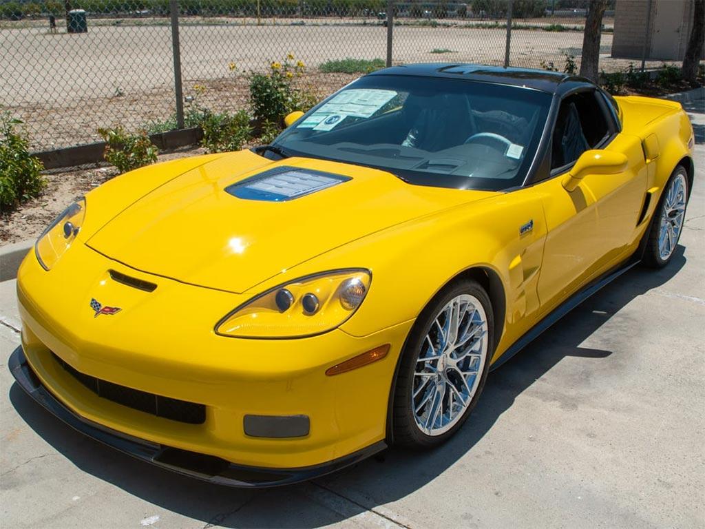 2010 Corvette ZR1 in Velocity Yellow with 16 Original Miles