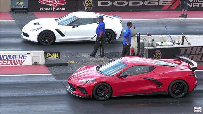 [VIDEO] C8 Corvette Battles a C7 Corvette Z06 at Bandimere Speedway