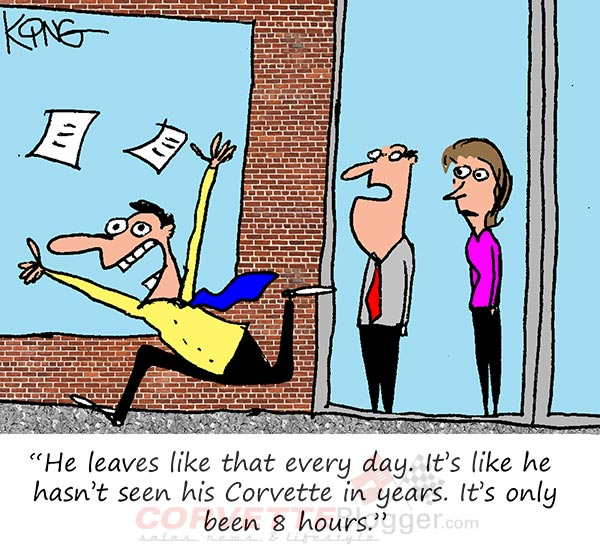 Saturday Morning Corvette Comic: How Corvette Owners Feel at the end of the Day