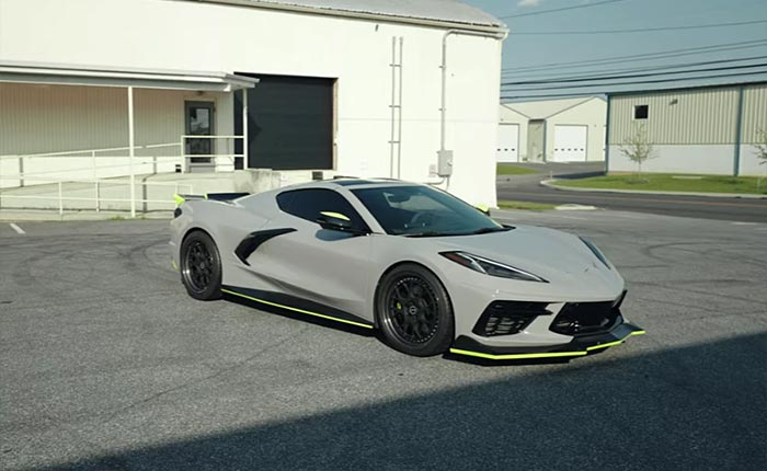 [VIDEO] C8 Corvette Gets Upgraded with the Widest Wheels Available