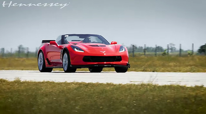 [VIDEO] Enjoy the Sounds of Hennessey's HPE850 C7 Corvette Z06 at Wide Open Throttle