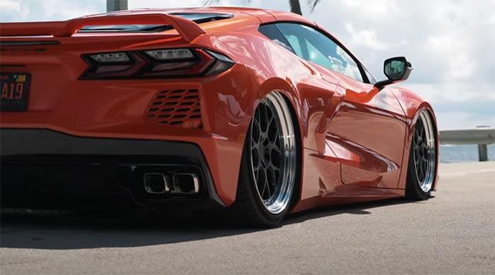 [VIDEO] Bagged C8 Corvette Rides on Velgen SL-7 Custom Wheels