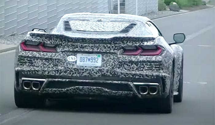 [VIDEO] New Nurburgring Sighting Shows C8 Mule with the Corner-Mounted Exhaust and Low Profile Spoiler