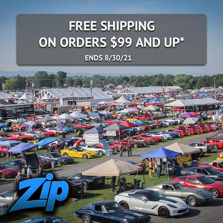 Corvettes at Carlisle Savings Continue Through Monday with Free Shipping from Zip