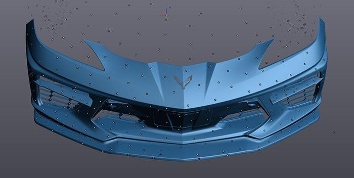 Racing Sport Concepts 'STC Carbon Fiber Front Splitter' for the C8 Corvette