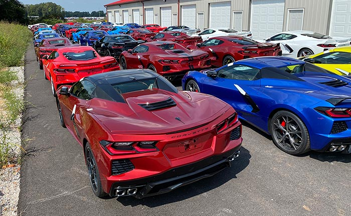 [VIDEO] 2021 Corvettes Awaiting R8C Delivery at the National Corvette Museum