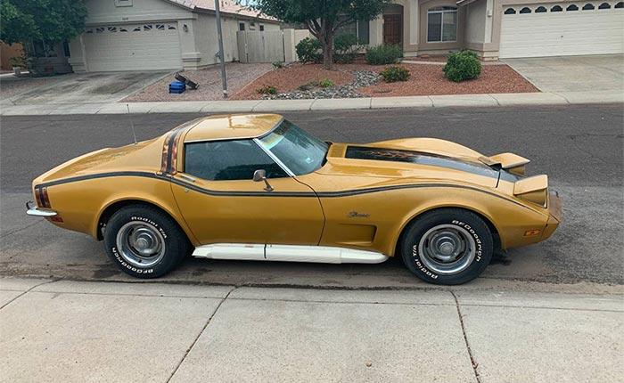 Corvettes for Sale: 1973 Corvette L82/4-Speed Garage Find on Craigslist