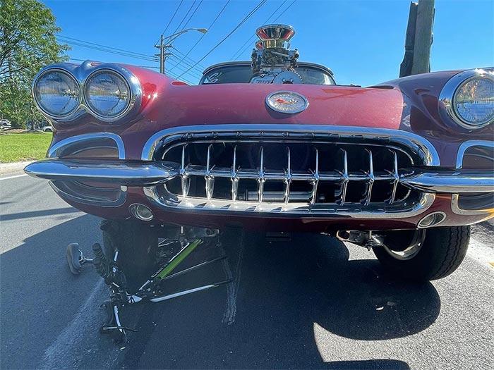 [ACCIDENT] Custom 1959 Corvette Strikes Biker and Drags Him Nearly 100 Feet