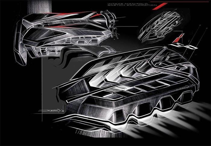 [PIC] Sketch of the C8 Corvette's V8 Intake Manifold by GM Designer Justin Salmon