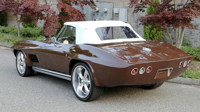 Corvettes for Sale: Chocolate '65 Corvette Roadster with Custom 'Corvette Summer' Flares