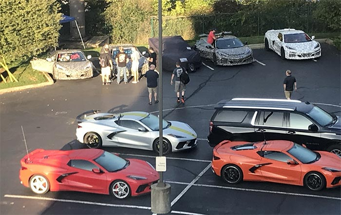 [SPIED] More Hotel Parking Lot Action with the Corvette Engineering Team and C8 Z06 Mules