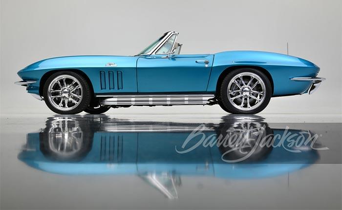 Custom 1966 Corvette Restomod Named 'Blue Diamond' Headed to Barrett-Jackson Houston