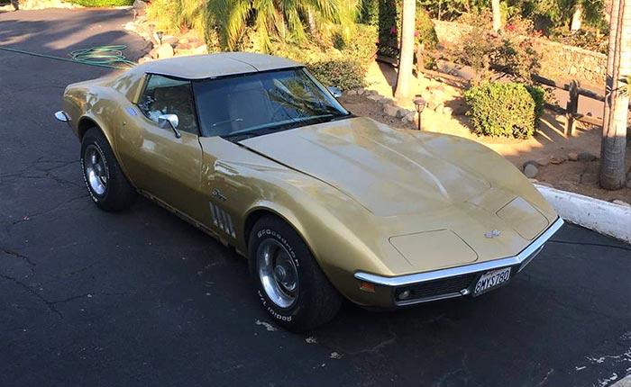 Corvette for Sale: 1969 Corvette Barn Find Project in Southern California