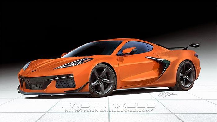 [PIC] Digital Artist Creates 2023 Corvette Z06 Rendering in Amplify Orange