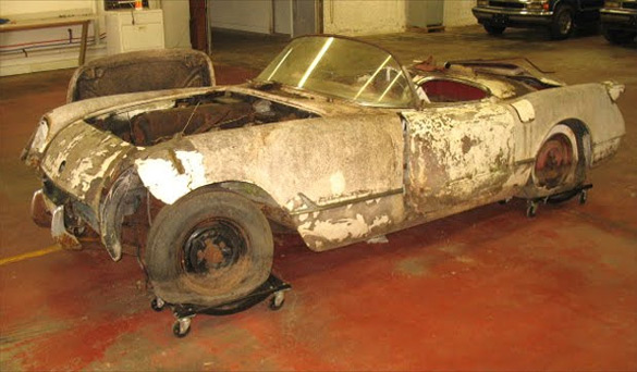 Barn Find: 1954 Corvette Pulled from Field in Upstate New York