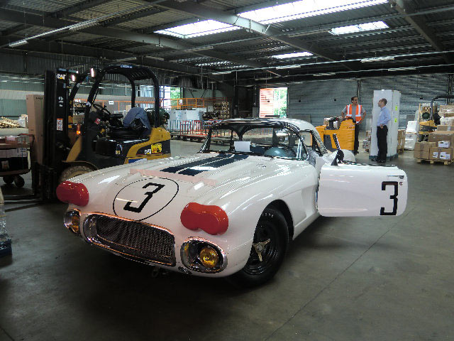 The #3 Briggs Cunningham Corvette Arrives in France for 50th Anniversary Celebration at Le Mans