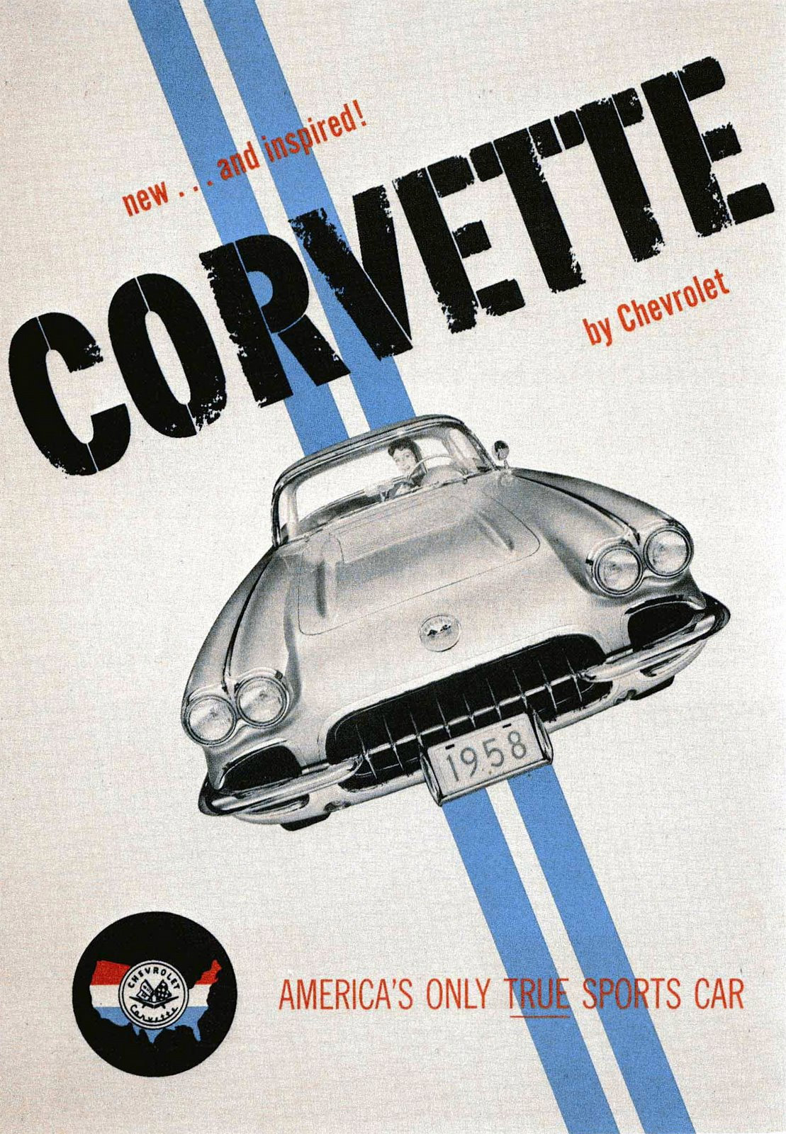 Corvette Ad Watch: 1958 Corvette Dealer Poster