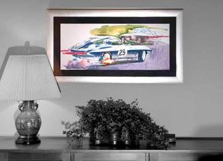 Art In Motion: GM's Corvette Studio Artwork Becomes Framed Objects of Desire